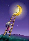 Lune et souris Photographie stock libre de droits