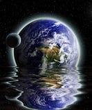 Lune et terre Photos libres de droits