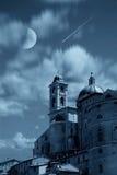 Lune et tour Photo libre de droits