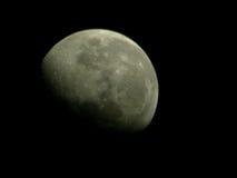 Lune grise partielle Images libres de droits