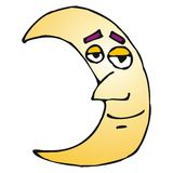 Lune heureuse Photographie stock libre de droits