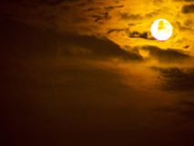 Lune jaune Photos libres de droits