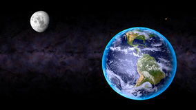 Lune Mars de la terre Image libre de droits