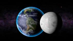 Lune Mars de la terre Photographie stock libre de droits