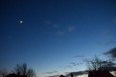 Lune, Mars, Vénus Décembre 2016 Photo libre de droits