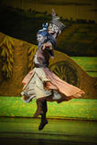 Lune martiale de ballet d'arts-Hui au-dessus de Helan Photo stock