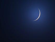 Lune neuve photographie stock libre de droits