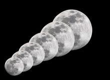 Lune piene fotografie stock libere da diritti
