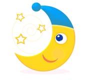 Lune regardant des étoiles illustration libre de droits