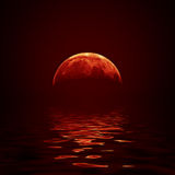 Lune rouge Image stock