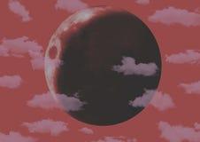 Lune rouge photo libre de droits
