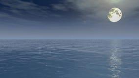 Lune sous l'océan Photo libre de droits