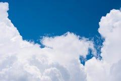 Lune sur le ciel bleu Image libre de droits
