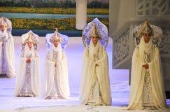 Lune vierge-Hui magnifique de ballet au-dessus de Helan Images libres de droits