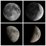 lune vue avec le télescope image libre de droits