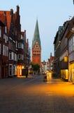 Luneburg,德国看法  免版税图库摄影