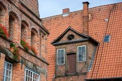 Luneburg Låg-Sachsen, Tyskland arkivbilder