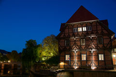 Luneburg, Lower-Saxony, Germany. Luneburg is a medieval city in the heart of Germany. The city grow in the medieval a a hanseatic city and became rich from Stock Photo