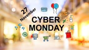 Lunedì cyber Immagine Stock