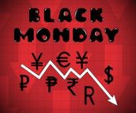 Lunedì nero royalty illustrazione gratis