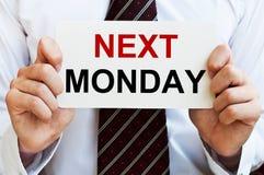 Lunedì prossimo Immagini Stock