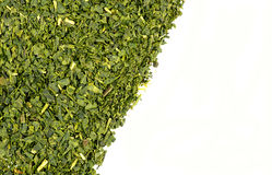 Luźnego liścia zielonej herbaty tła tekstura Zdjęcia Royalty Free