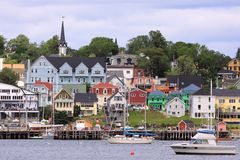 Lunenburg, Nova Scotia image stock