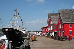 Lunenburg, Nova Scotia Foto de Stock Royalty Free