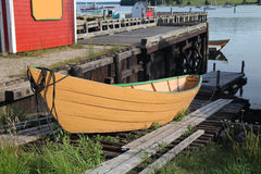 Lunenburg Ruderboot Stockfotografie