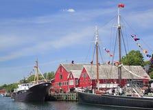 Lunenburg strand, Nova Scotia Arkivbilder