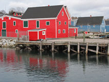 Lunenburg waterfront stock photography