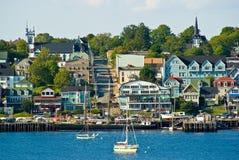 Lunenburg waterfront. Nova scotia, Canada stock photo