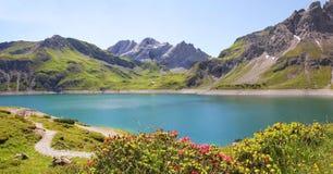 Luner sehen und Gletscher, Österreich Stockfotos