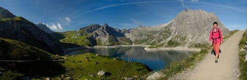Lunersee, Vorarlberg, Áustria Foto de Stock Royalty Free