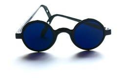 Lunettes bleu-foncé Photographie stock libre de droits