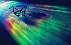 Lunettes dans l'éventail de couleurs Image stock