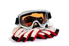 Lunettes de snowboard de ski Photos stock