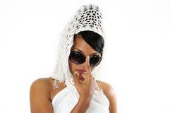 lunettes de soleil africaines de beauté Image stock