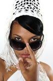 lunettes de soleil africaines de beauté Photographie stock