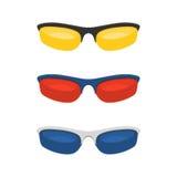 Lunettes de soleil colorées de sport Photographie stock libre de droits