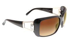 Lunettes de soleil d'isolement de noir de mode sur le backgro blanc Image stock