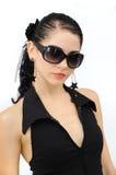 lunettes de soleil de protrait de mode Photos stock