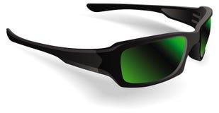 lunettes de soleil noires de trame illustration de vecteur