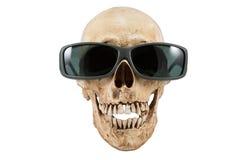 Lunettes de soleil principales squelettiques d'articles de Halloween Photos libres de droits