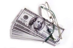 Lunettes et argent photographie stock libre de droits