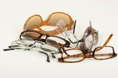 Lunettes et lunettes de soleil Photographie stock libre de droits