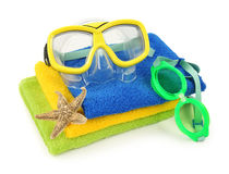 lunettes nageant Images libres de droits