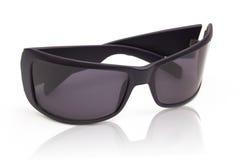 lunettes noires du l'Anti-soleil d'isolement sur le blanc Photos libres de droits