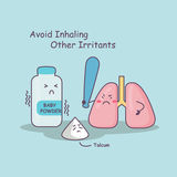Lung avoid inhaling other irritants Stock Photos
