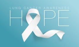 Lung Cancer Awareness Calligraphy Poster design Realistiskt vitt band November ?r cancermedvetenhetm?naden ocks? vektor f?r corel vektor illustrationer